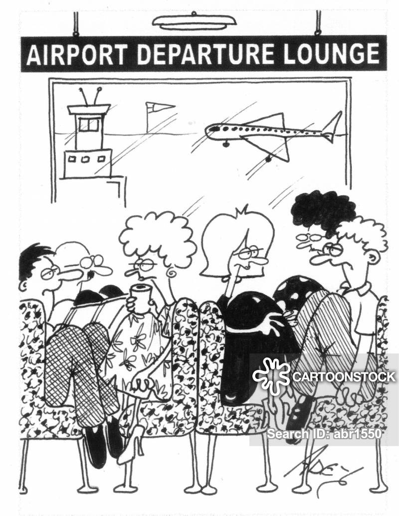 Cartoons and comics funny. Airport clipart departure lounge