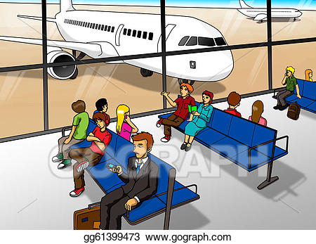 Stock illustration clip art. Airport clipart departure lounge