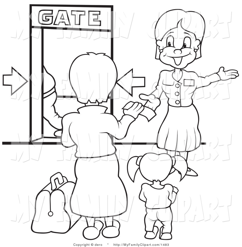 Airport clipart drawing. Gate