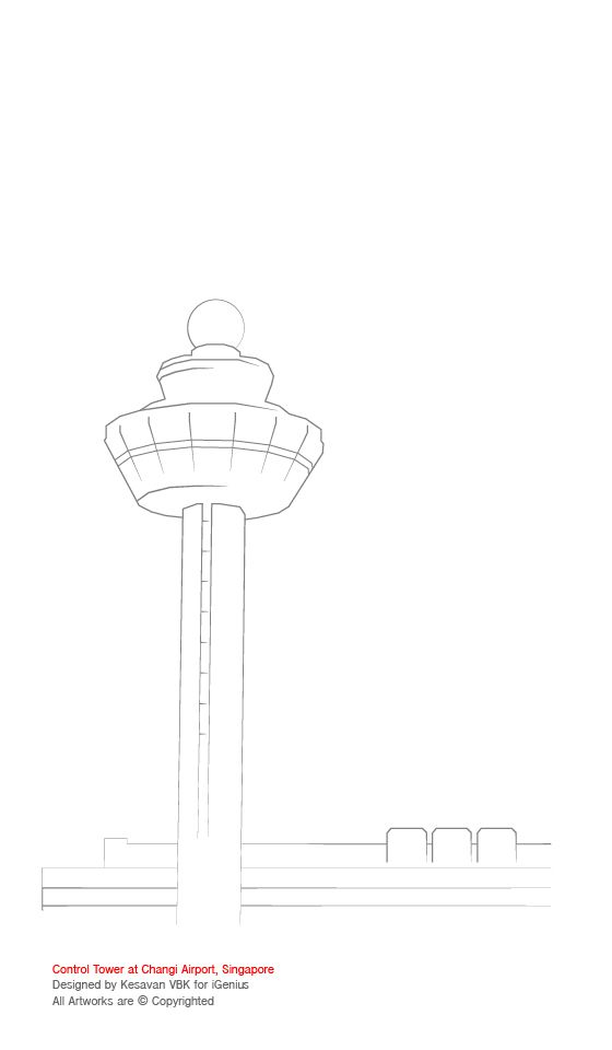 Airport clipart drawing. Title changi control tower