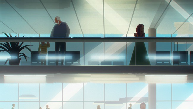 Airport clipart hall. Waiting scene illustration design