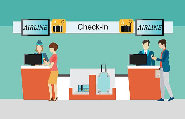 Royalty free check in. Airport clipart hall