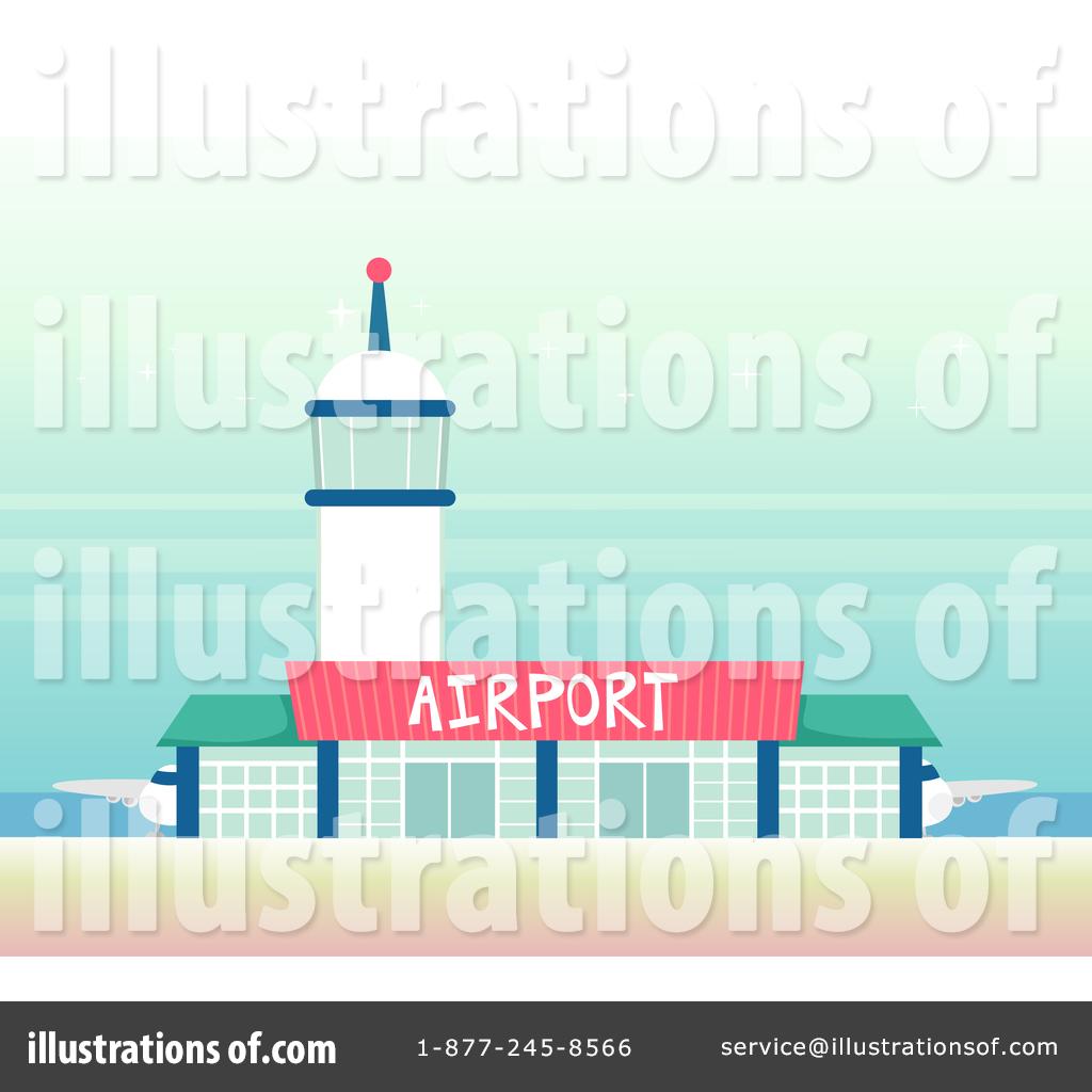 Airport clipart illustration. By bnp design studio