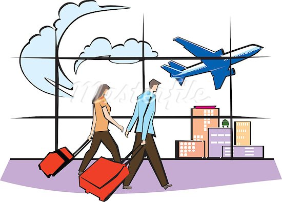 Clipground. Airport clipart illustration