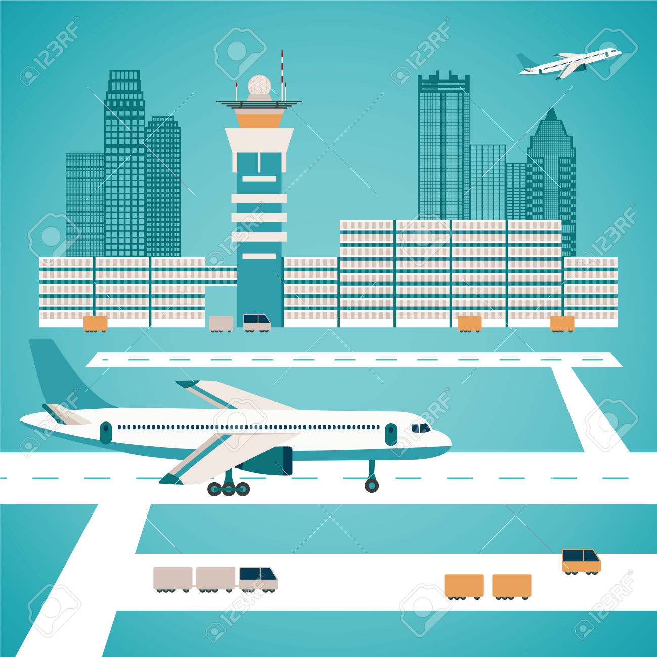 Airport clipart illustration. Building pencil and in