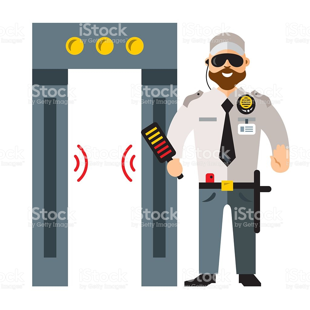 Royalty free rf gate. Airport clipart illustration