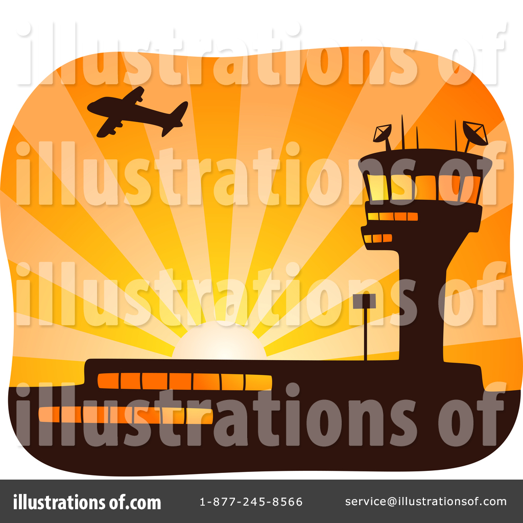 By bnp design studio. Airport clipart illustration