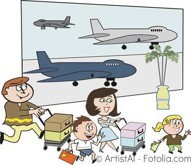 Airport clipart kid. Surviving the with kids
