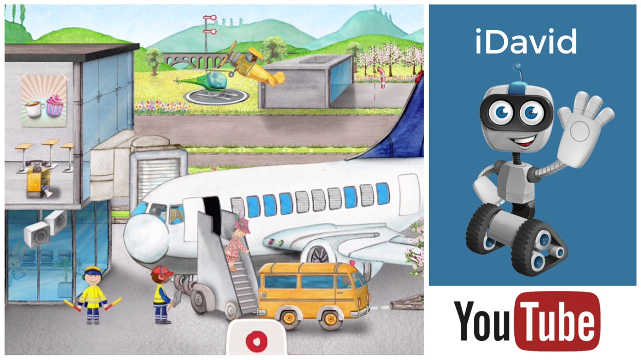 Tiny video for kids. Airport clipart kid