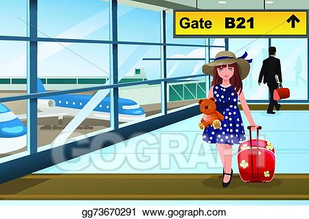 Eps vector little traveling. Airport clipart kid