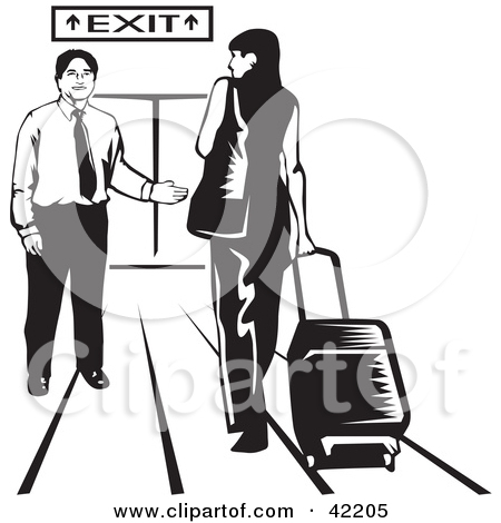 Exit panda free images. Airport clipart leaving