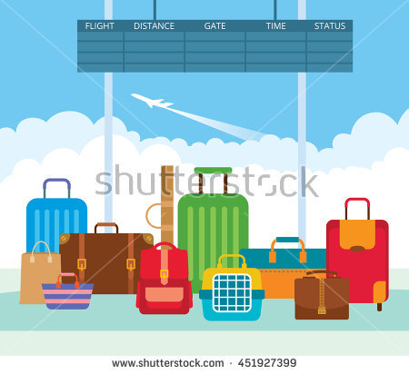 Carry bag free collection. Airport clipart leaving