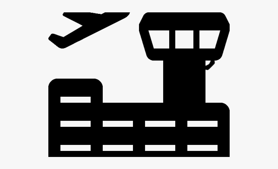Black and white free. Airport clipart logo