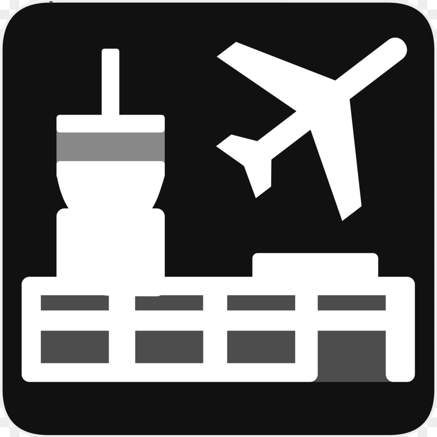 Airplane text technology . Airport clipart logo