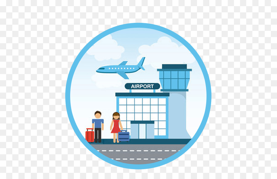 Airport clipart logo. Airplane text product transparent