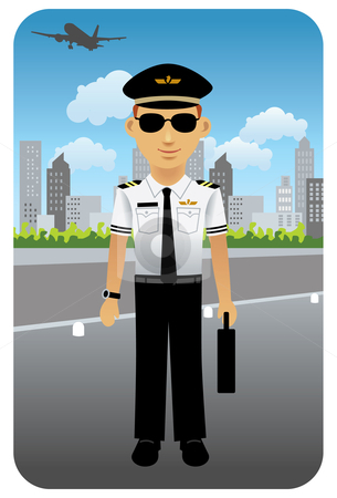 Pilot clipart. Airline at the airport