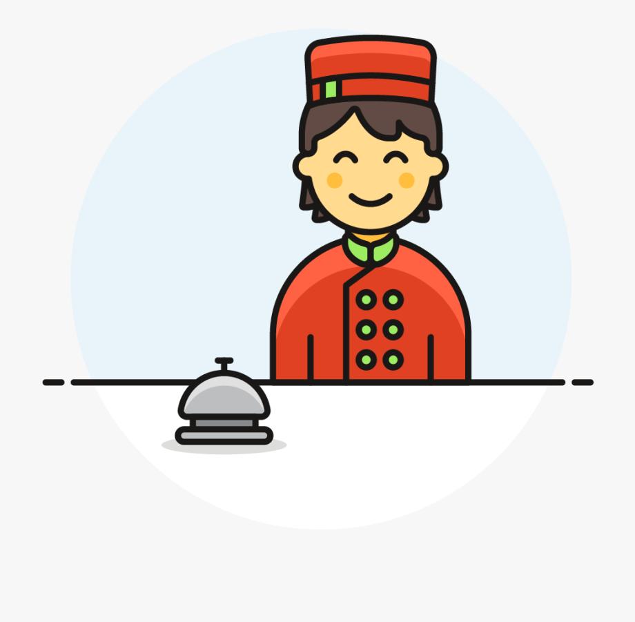 Cartoon free . Airport clipart receptionist