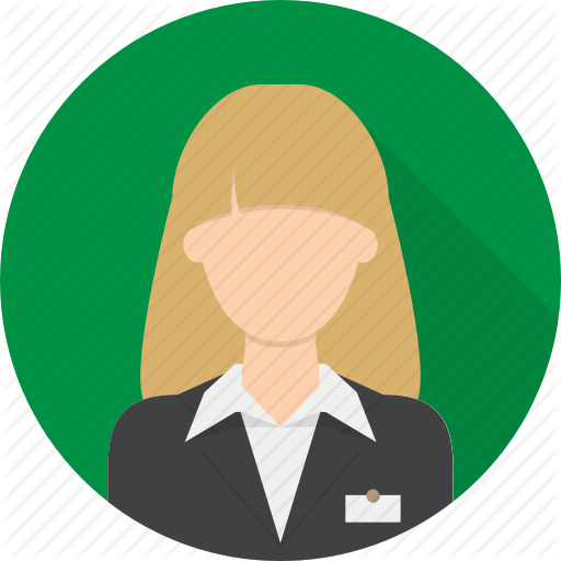 Iconfinder avatar by graphiqa. Airport clipart receptionist