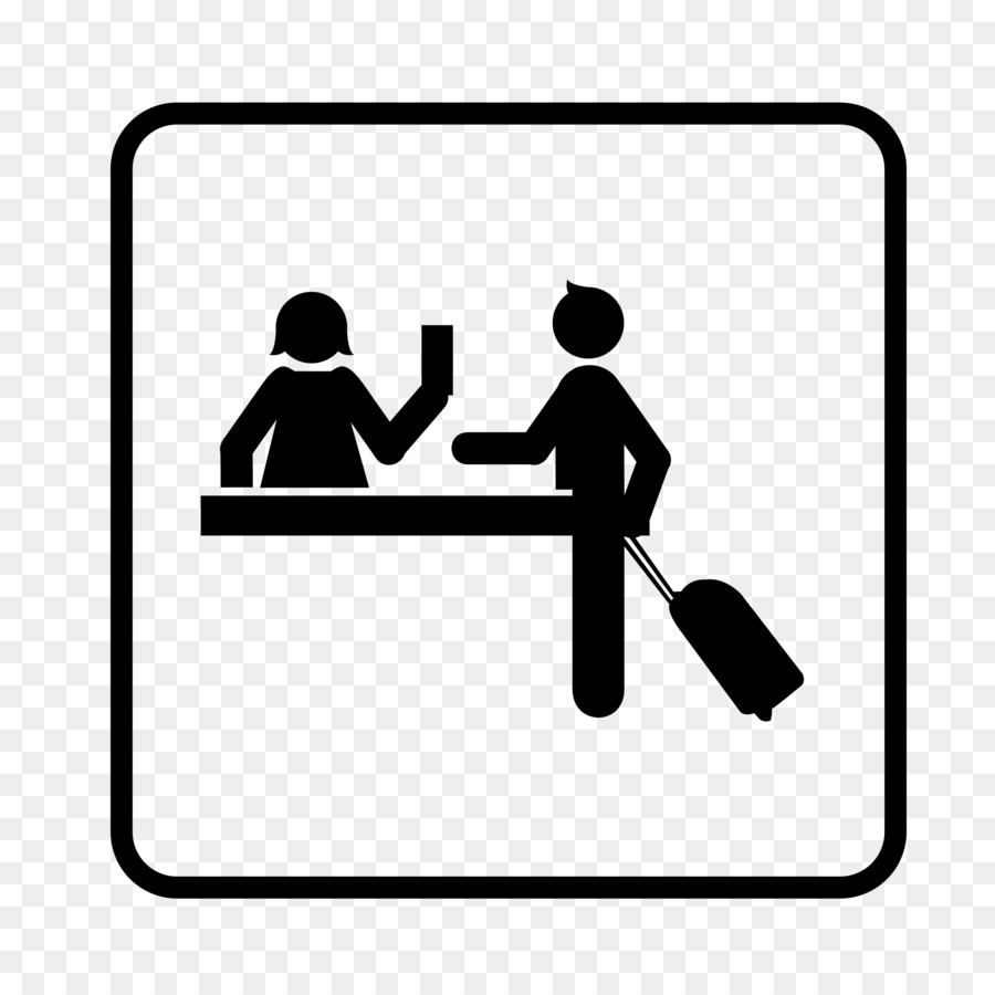 Airport clipart receptionist. Hotel check in computer