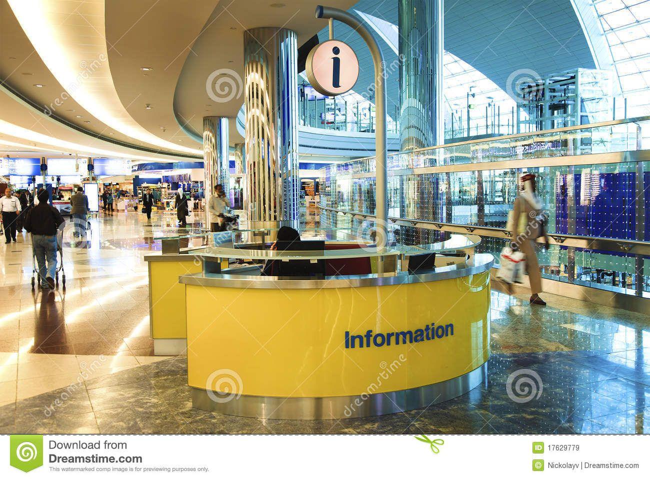 Airport clipart receptionist. Information desk dubai international