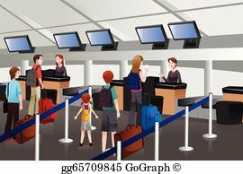 Vector stock departure area. Airport clipart receptionist