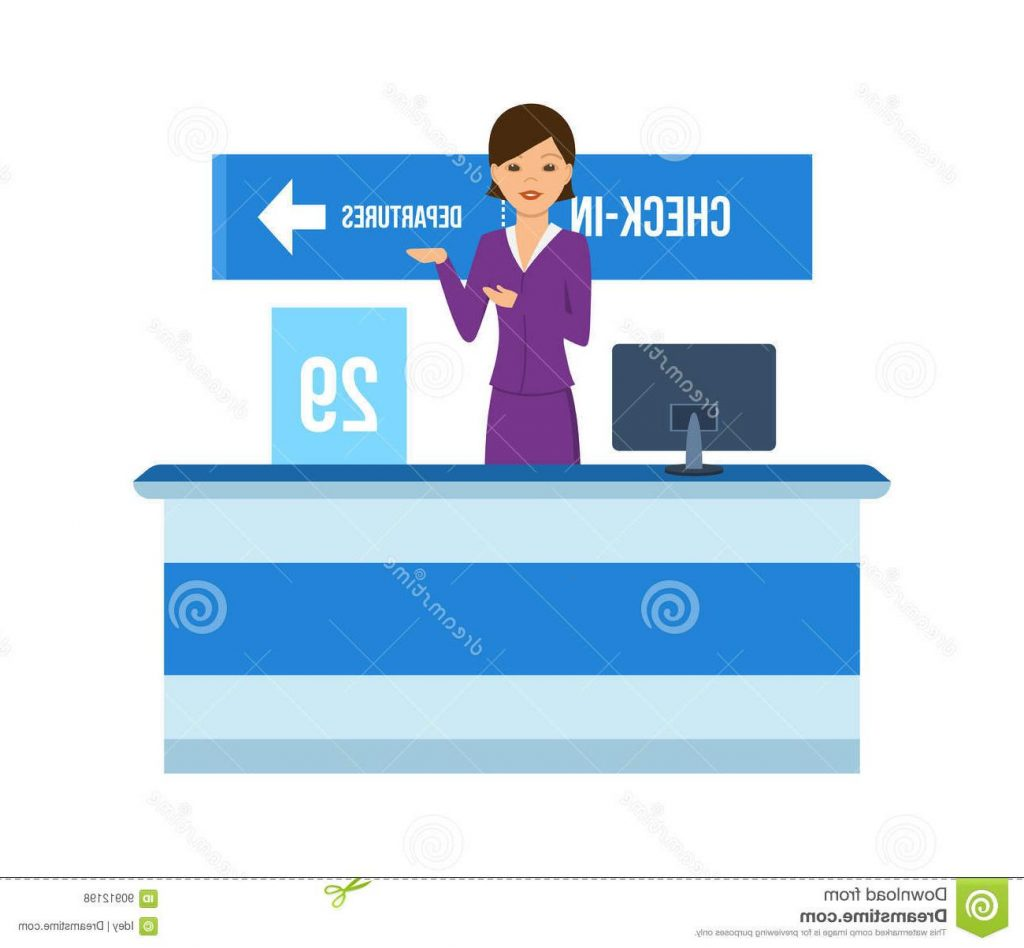 Airport clipart receptionist. Best image