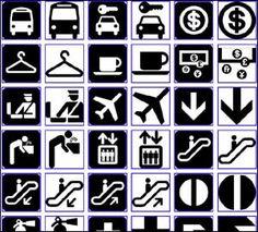 Aiga symbols signs school. Airport clipart simbol