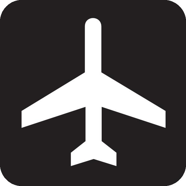 Black sign clip art. Airport clipart simbol