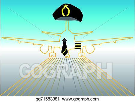 Eps vector pilot and. Airport clipart simbol