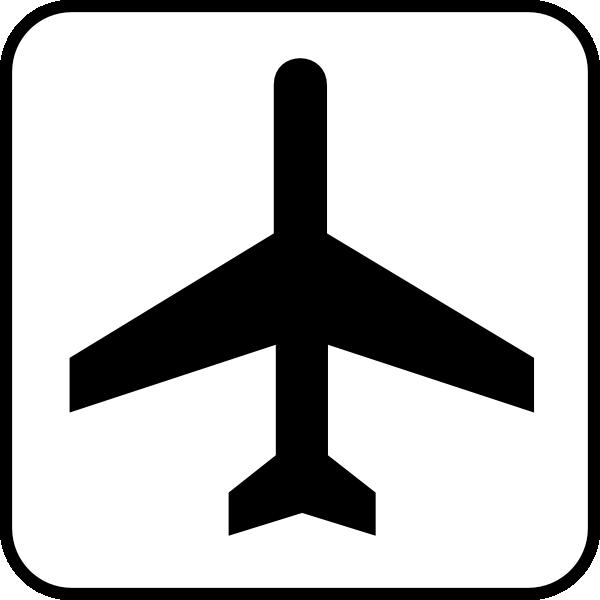 Airport clipart simbol. Map symbol plane clip
