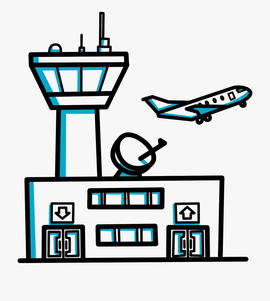 Airport clipart transparent. Building videoscribe clip art