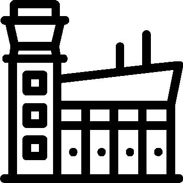 Airport clipart transparent. Icon iconbros