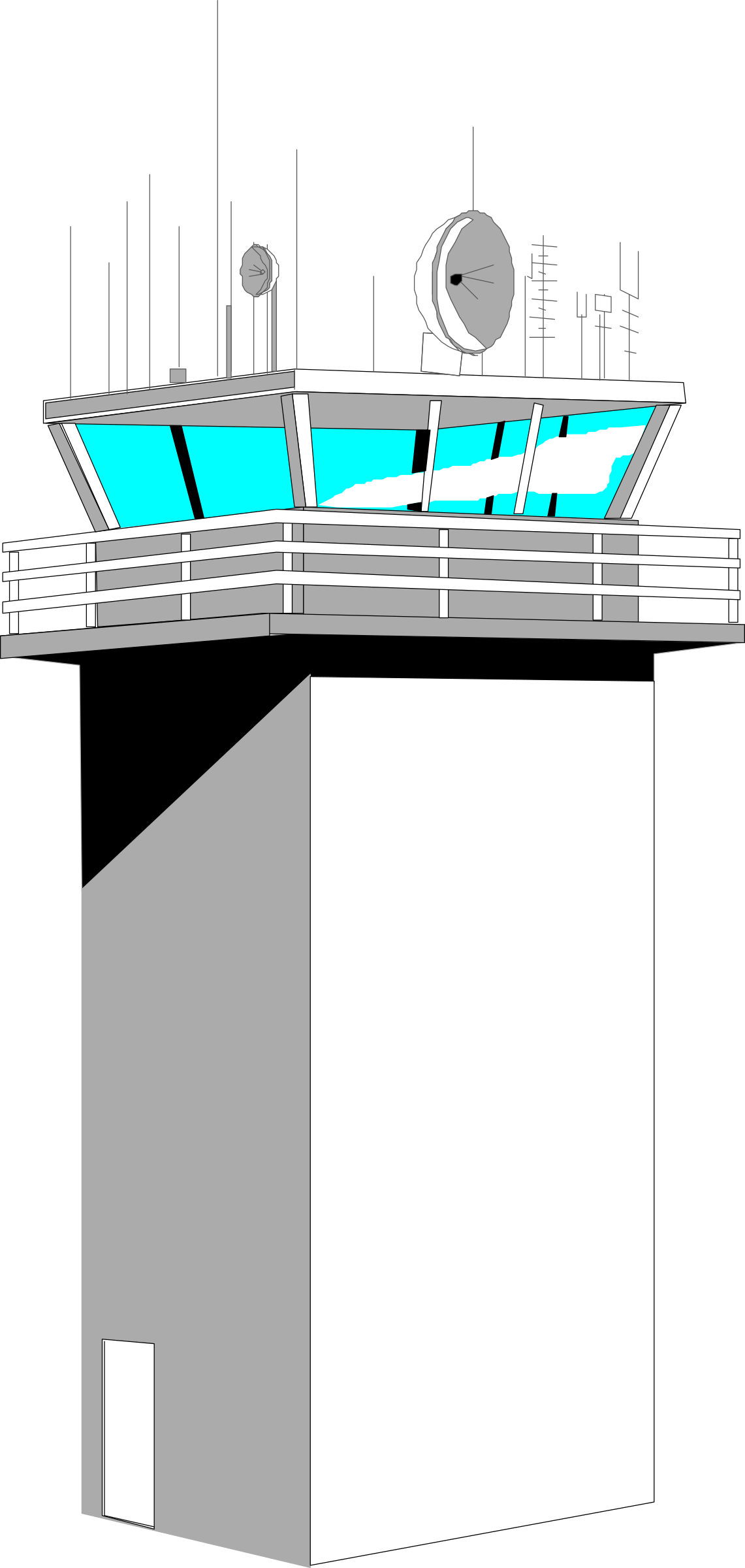 clipart airplane tower