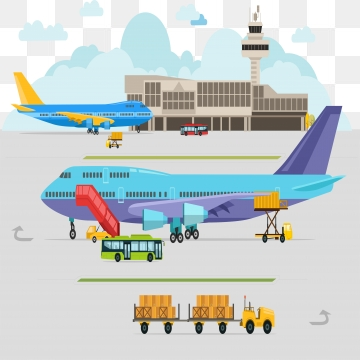 Airport clipart vector. Png psd and with