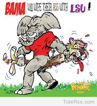 Alabama clipart bama. Sorry lsu not crimson