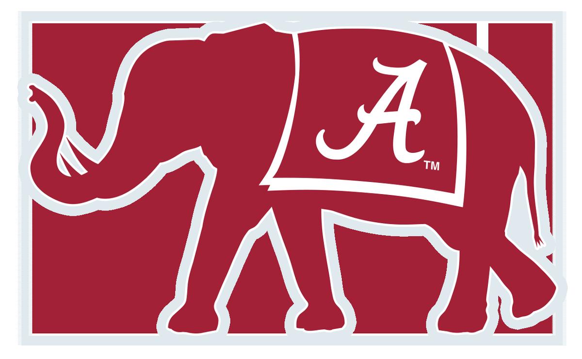 Alabama clipart bama. Elephant decal