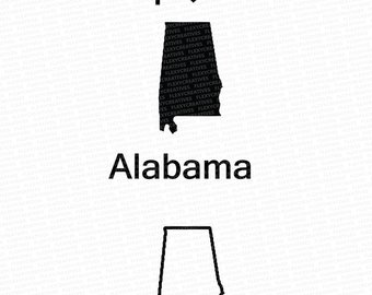 Alabama clipart black and white. Etsy vector state clip