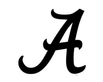 Logo etsy crimson svg. Alabama clipart black and white