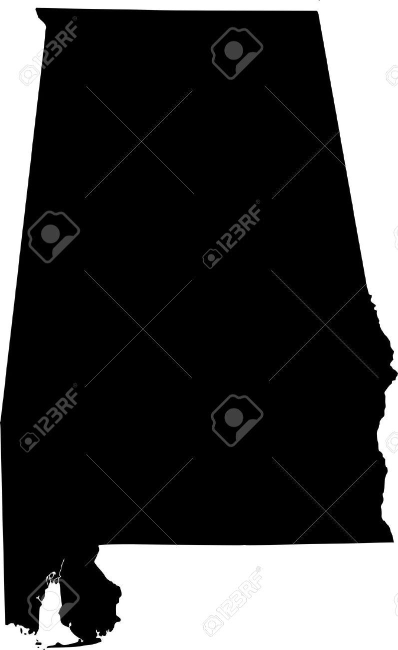 Map of panda free. Alabama clipart black and white