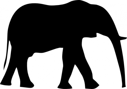 Alabama clipart black and white. Elephant silhouette at getdrawings