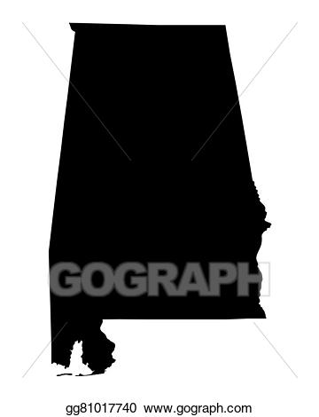 Alabama clipart black and white. Vector art map od