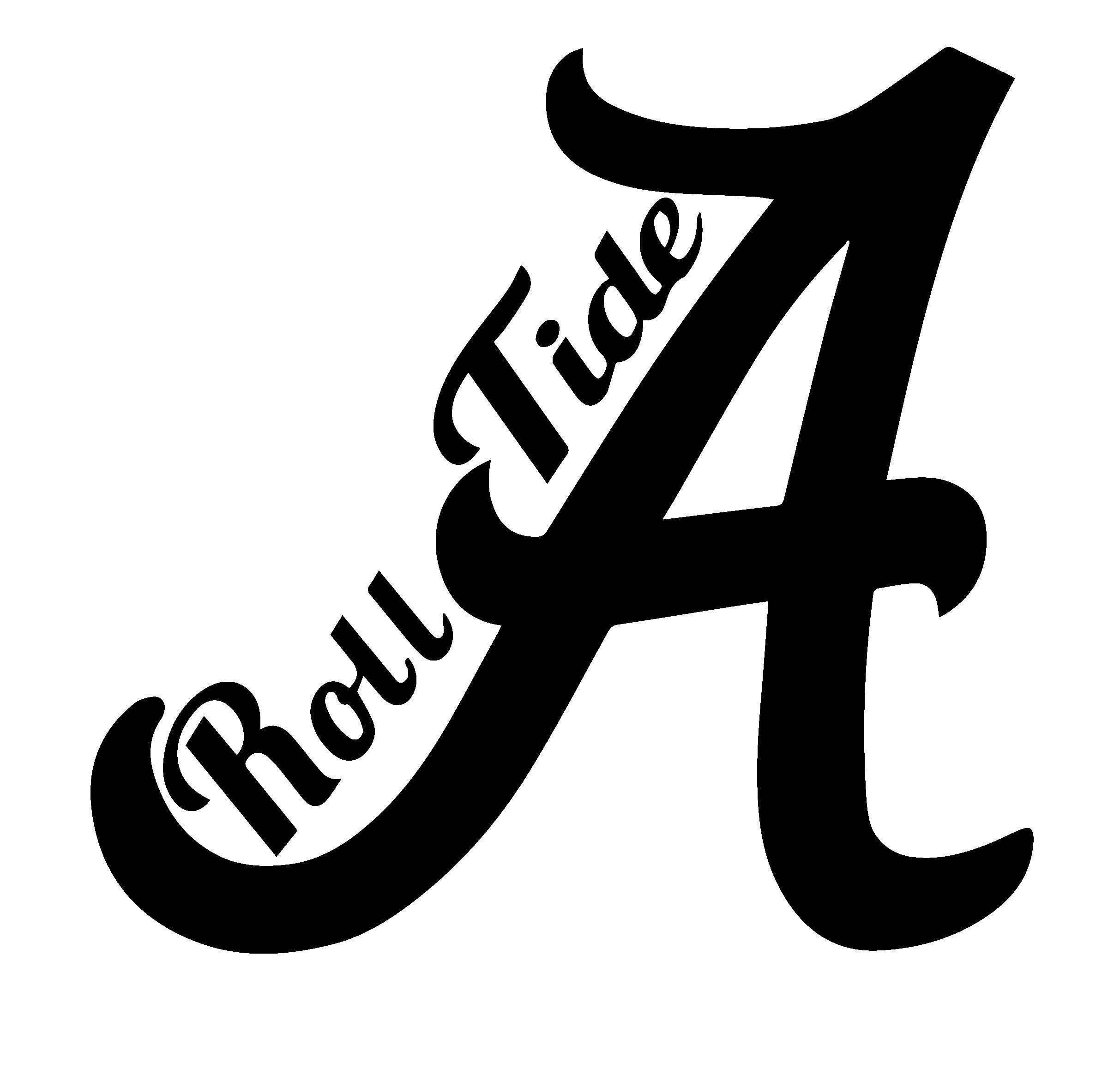 Crimson tide roll football. Alabama clipart black and white