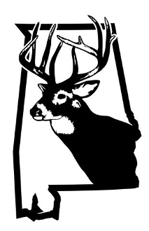 Hunting decal sticker . Alabama clipart deer antler