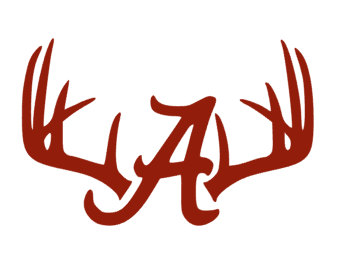 Alabama clipart deer antler. Antlers rack a crimson