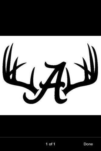 Alabama clipart deer antler. Car decal window vinyl