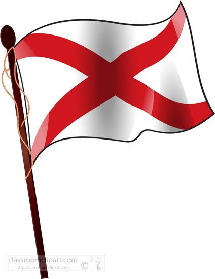 State on flagpole classroom. Alabama clipart flag alabama