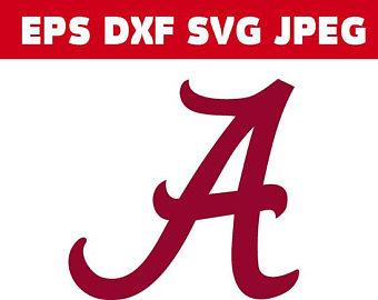 Alabama clipart font. Logo etsy university of