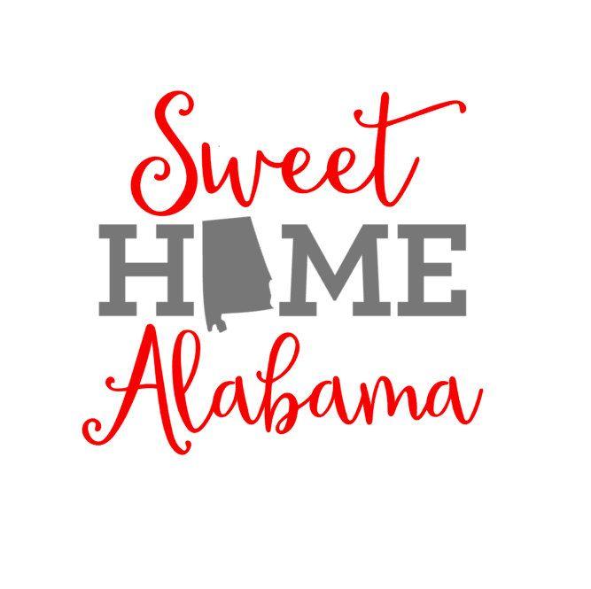 Sweet home vinyl decal. Alabama clipart font