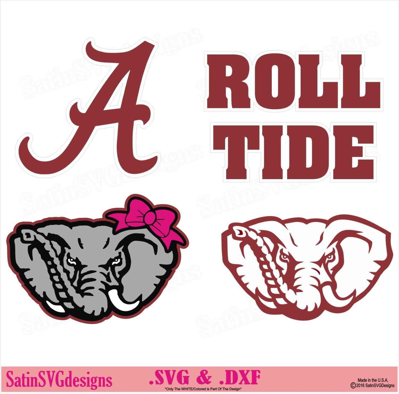 Elephant roll tide design. Alabama clipart font