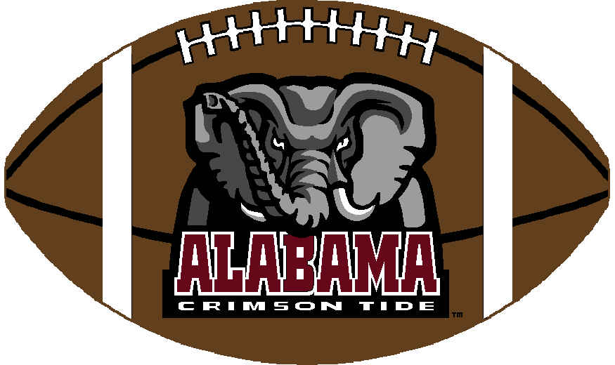 collection of high. Alabama clipart football